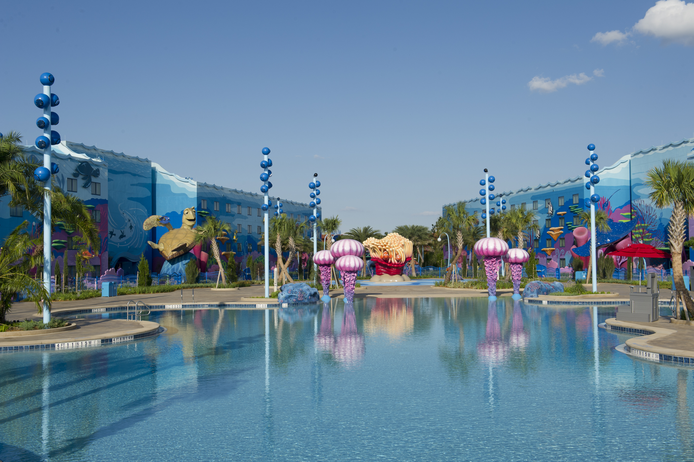 Disney 39 s art of animation resort big blue pool for Blue world pools