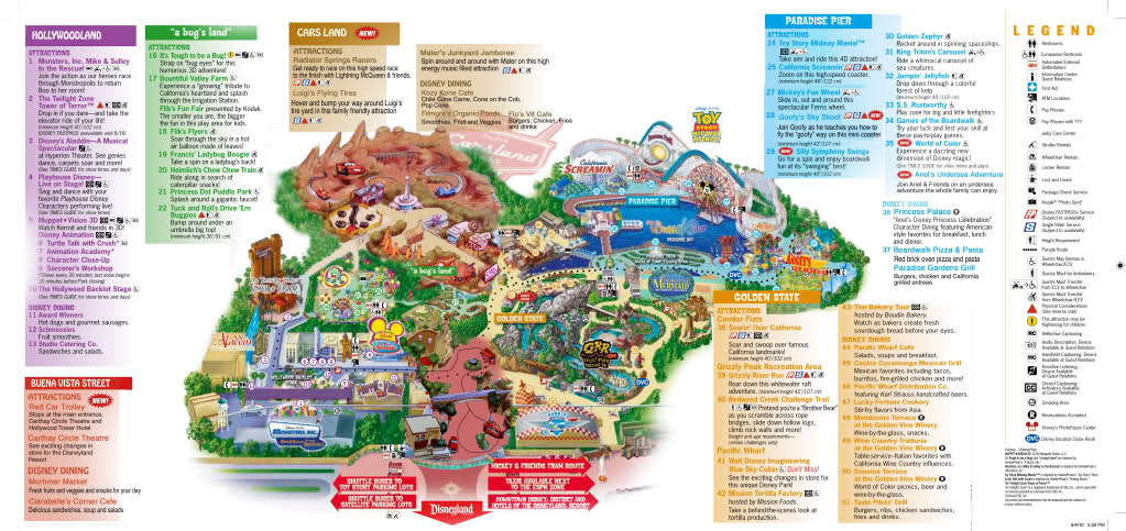 2016 California Adventure Maps Printable Pictures To Pin