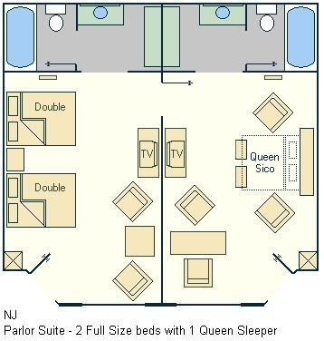 All Star Music Family Suite Floorplan Layout Magical