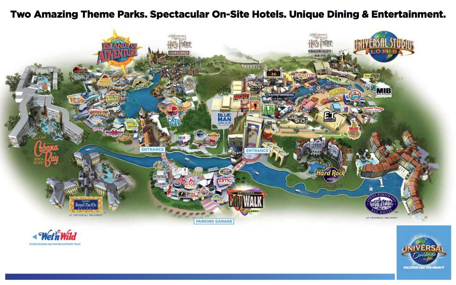 Map Of Universal Studios Hotels | 2018 World\'s Best Hotels